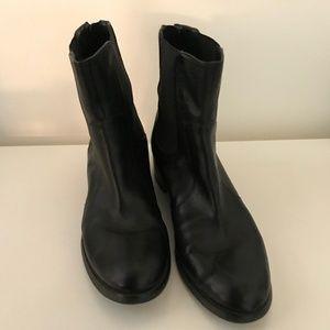 Etienne Aigner Black Leather Booties